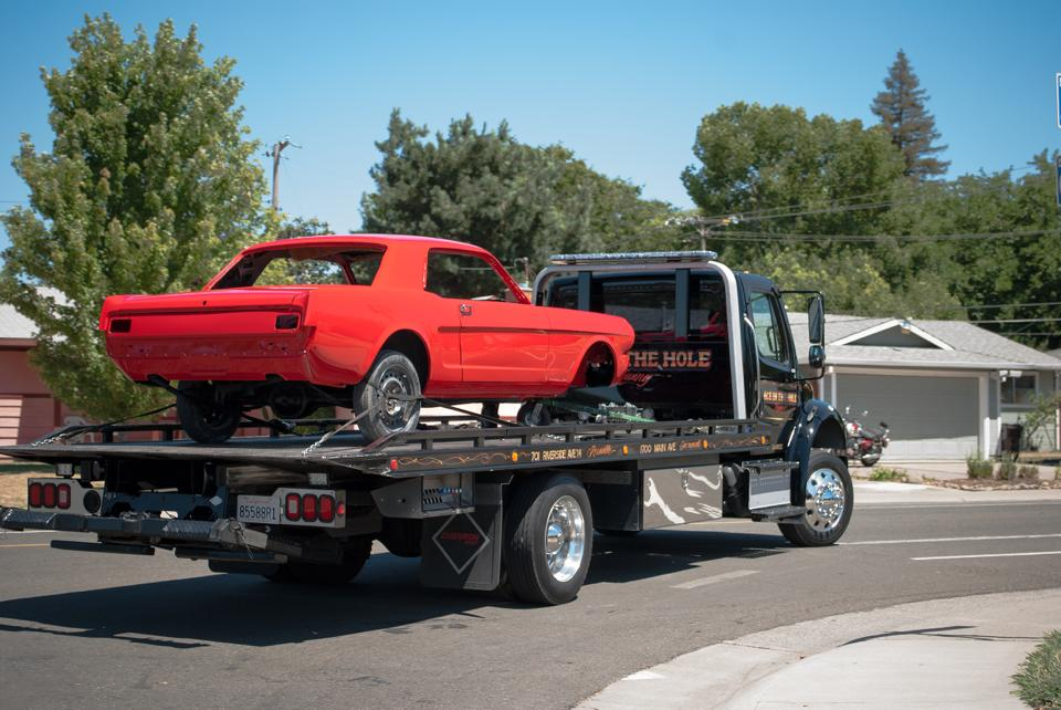 We will tow your classic Mustang wherever it needs to go. Our tow trucks will take classic vehicles right to your garage, if that's where you want it.